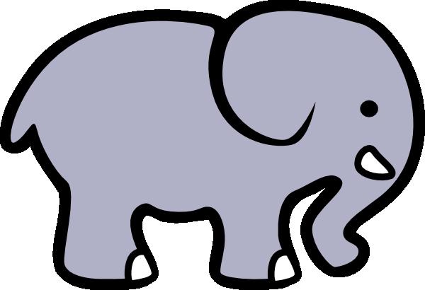 Grey clipart Clip Elephant art Clker online