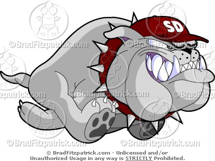 Grey clipart bulldog #12
