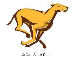 Greyhound clipart Dog Greyhound running Illustrations Clipart