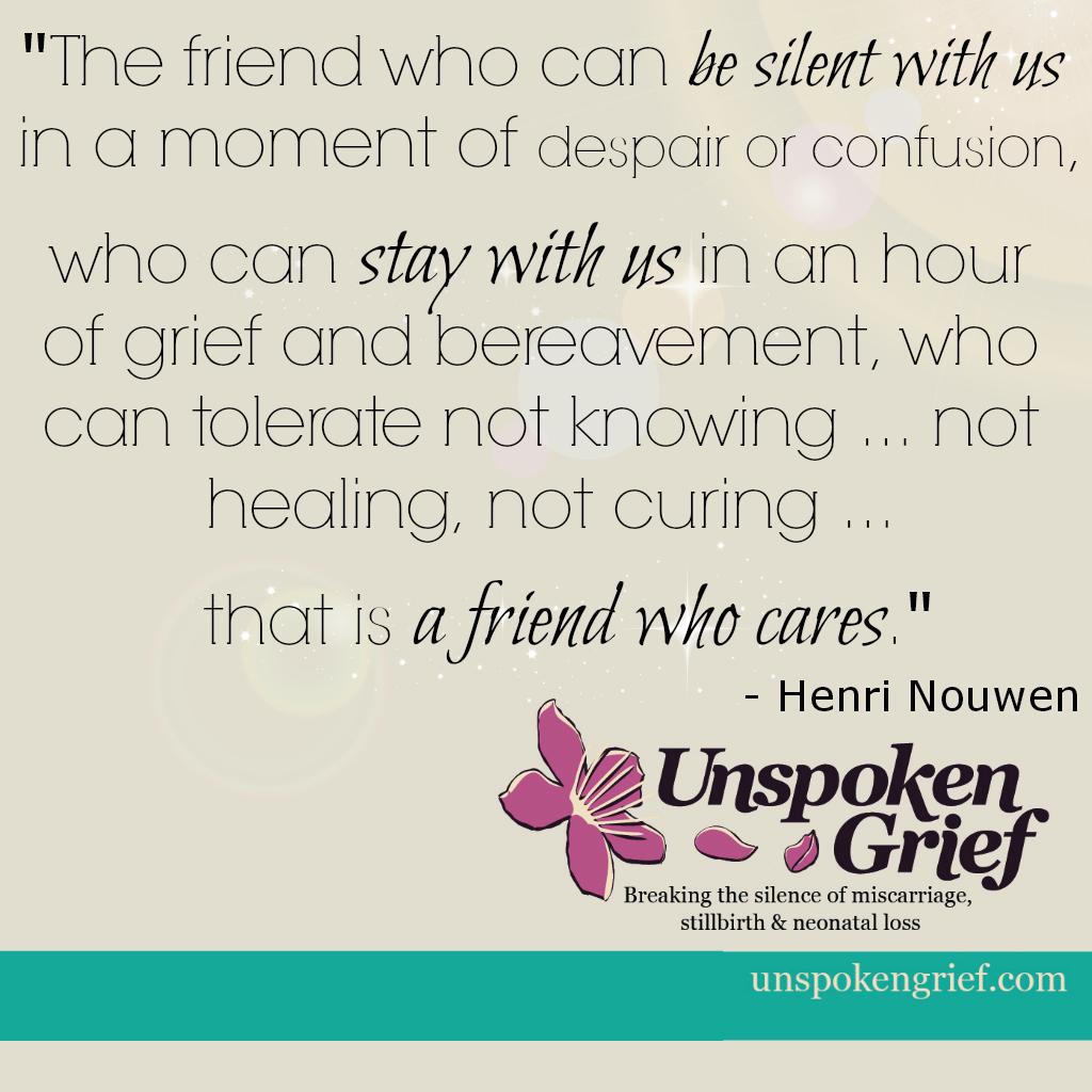 Grieve clipart sad friend Unspoken The Grief Friend… Common