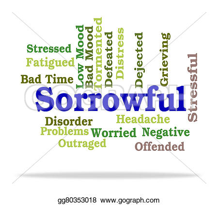 Grieve clipart worried  Clip Sorrowful dejected gg80353018