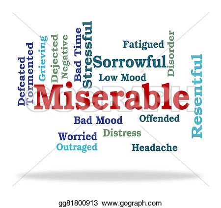 Grieve clipart worried Clip Miserable desolate gg81800913 and