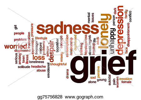 Grieve clipart worried  Stock Grief Clipart Stock