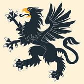 Griffon clipart Royalty Griffin Heraldic Black Art