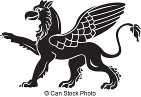 Griffon clipart  with Vector Standing paw