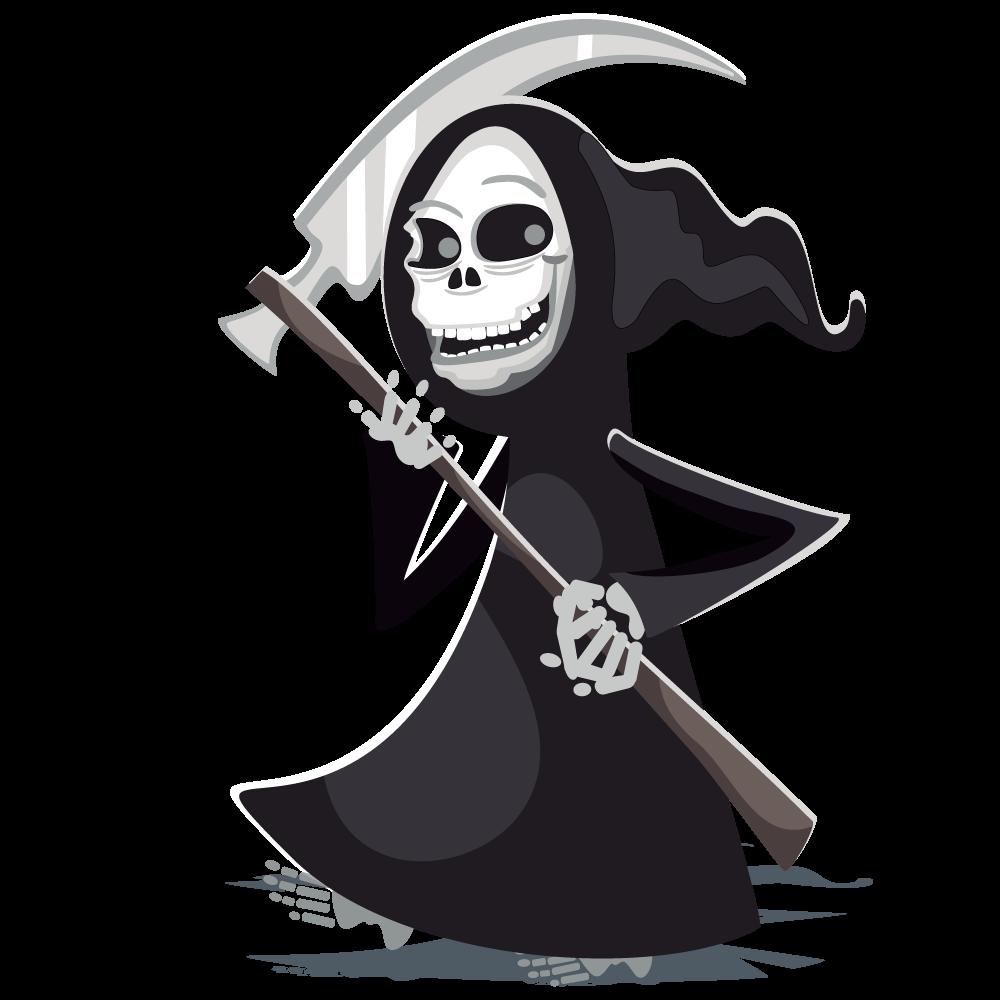 Drawn grim reaper halloween Clip to Art & Reaper