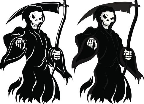 Reaper clipart black and white About iStock Illustrations Clip Grim