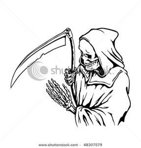 Reaper clipart black and white Black Reaper Grim Image: Clip