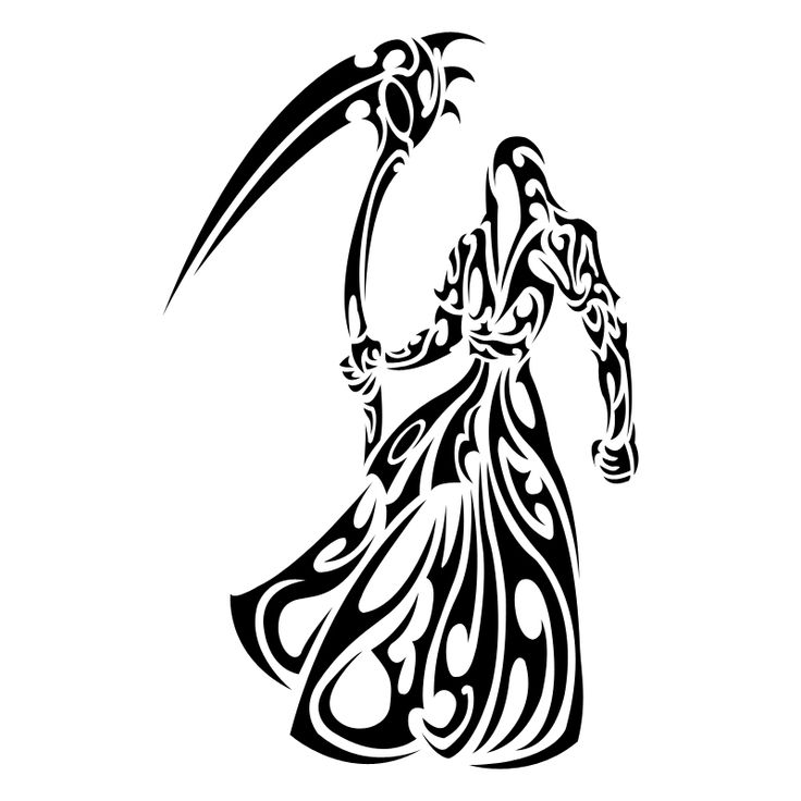 Reaper clipart tribal ClipArt Best on deviantART ClipArt