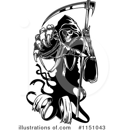 Reaper clipart black and white Grim Vector Vector by (RF)