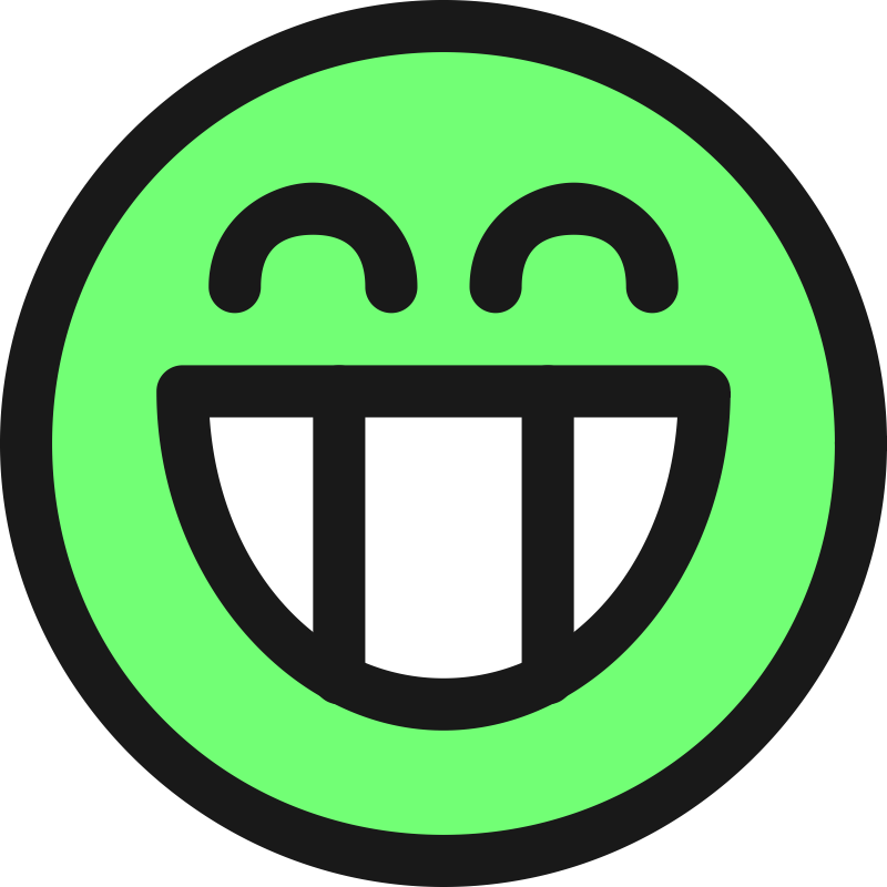 Grin clipart excited #13