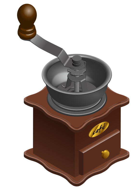Grinder clipart Coffee Free  Manual Clip