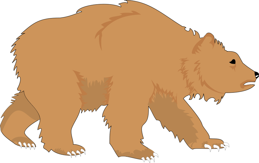 Small clipart standing bear For bear grizzly  bear