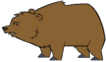 Grizzly Bear clipart brown color Wuzzums  Fuzzy powered Wiki