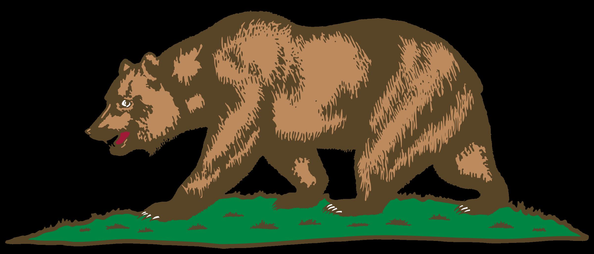 Grizzly Bear clipart california bear Bear Plot California Flag California