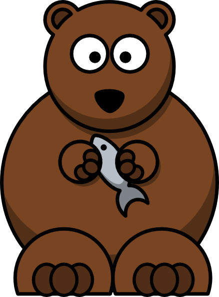Larger clipart brown bear  bear a Clipart Cartoon