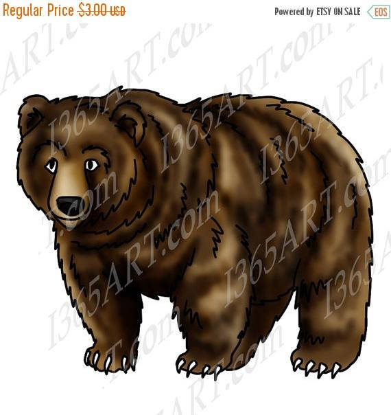 Grizzly Bear clipart coloring page #13