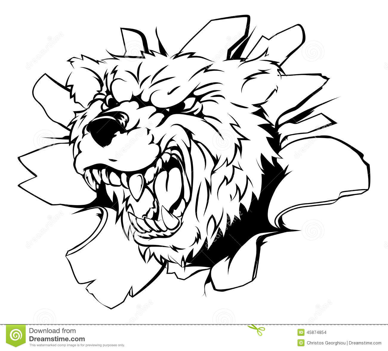 Grizzly Bear clipart fierce Clipart Grizzly Fierce Fierce collection