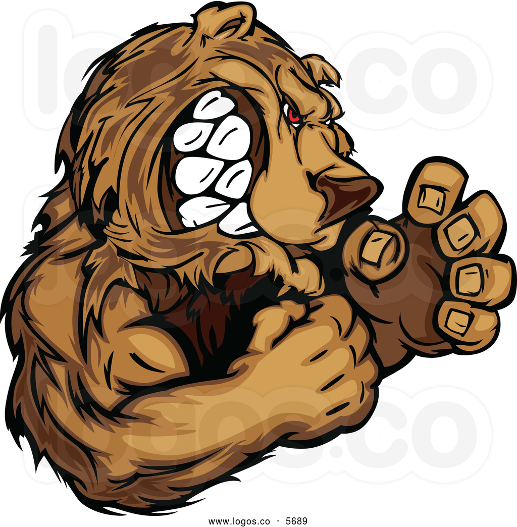 Grizzly Bear clipart fierce Clipart Growling Clipart Fierce collection