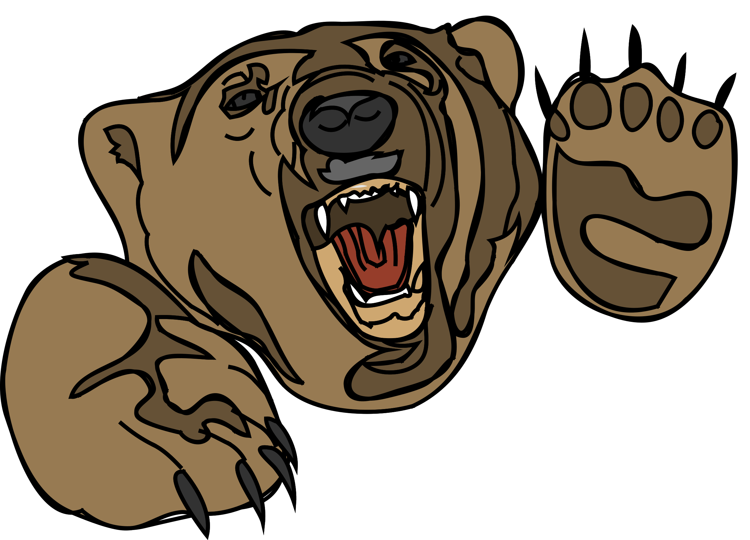 Grizzly Bear clipart growl (orso 11) Growling Bear Clipart