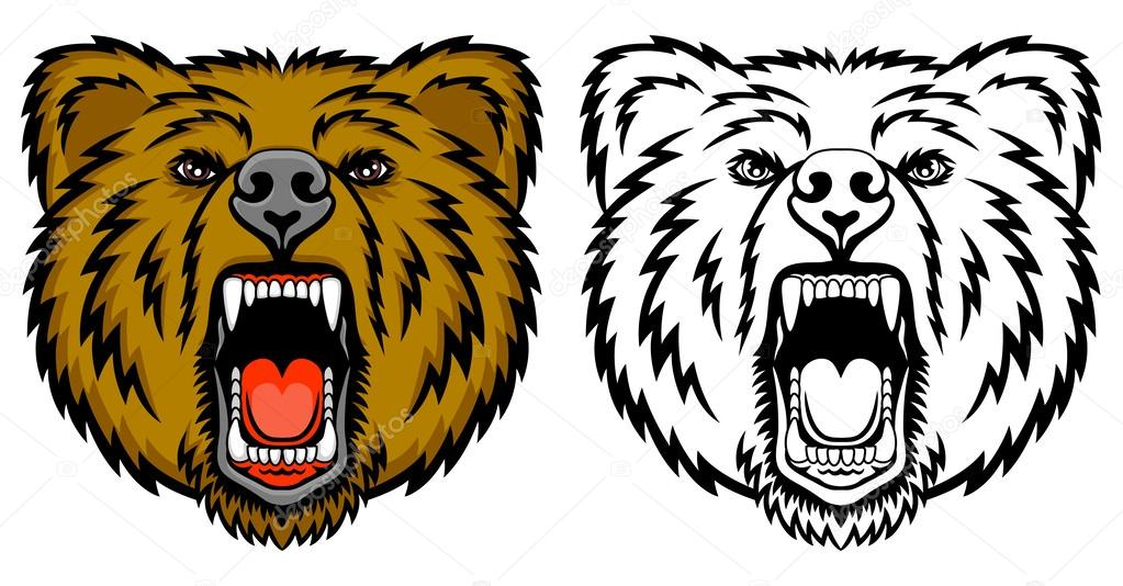 Grizzly Bear clipart growl And a shirt illustration —