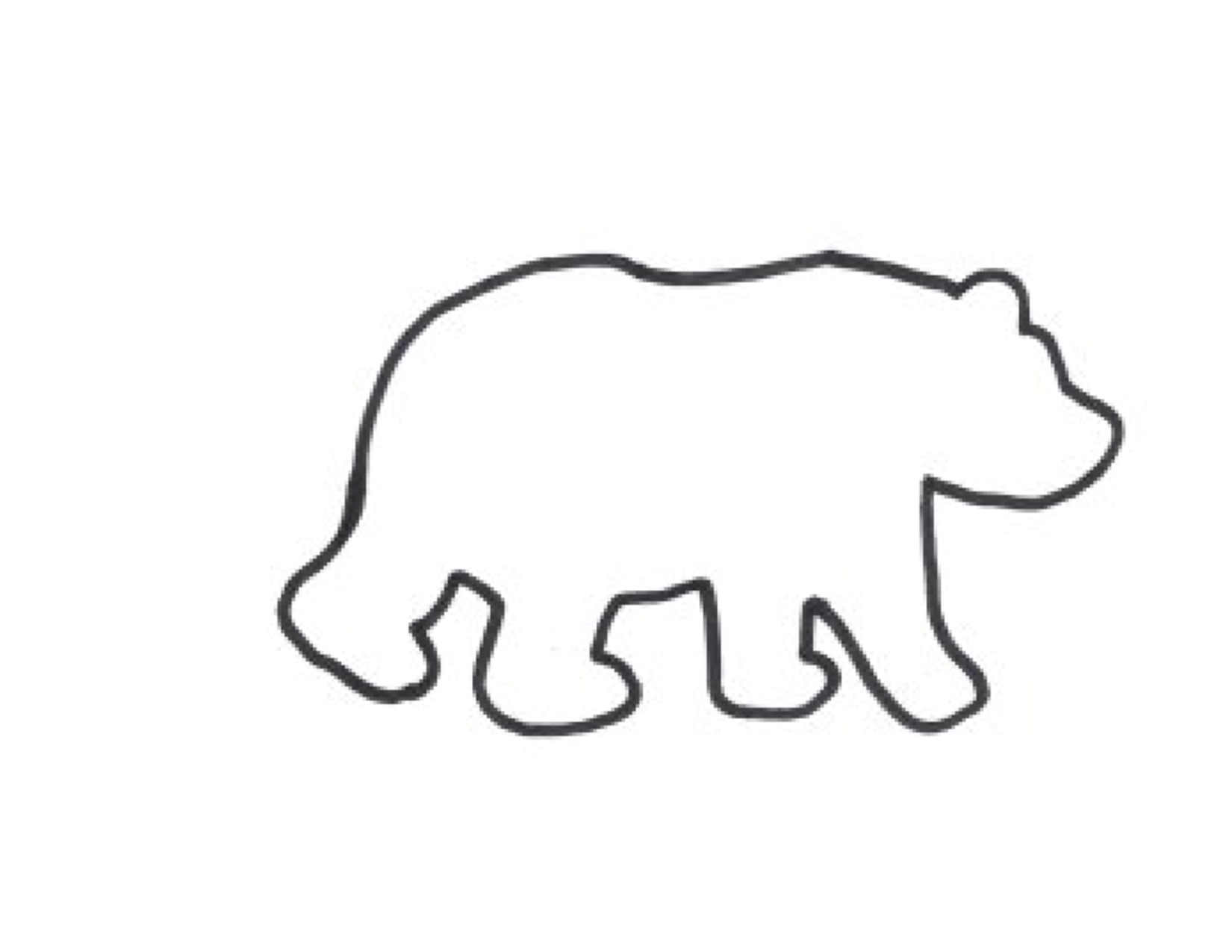 Grizzly Bear clipart outline #13