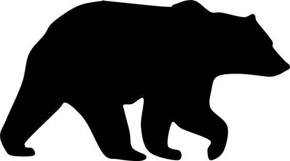 Grizzly Bear clipart silhouette #10