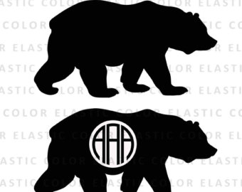 Black Bear clipart woodland Digital svg bear Etsy clipart