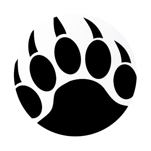 Grizzly Bear clipart paw print #2