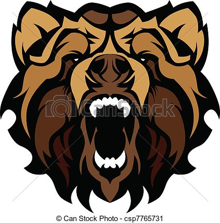 Grizzly clipart Of Mascot Art Grizzly Bear