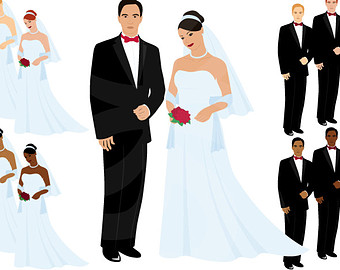 Groom clipart Groom and couple Graphics Bride