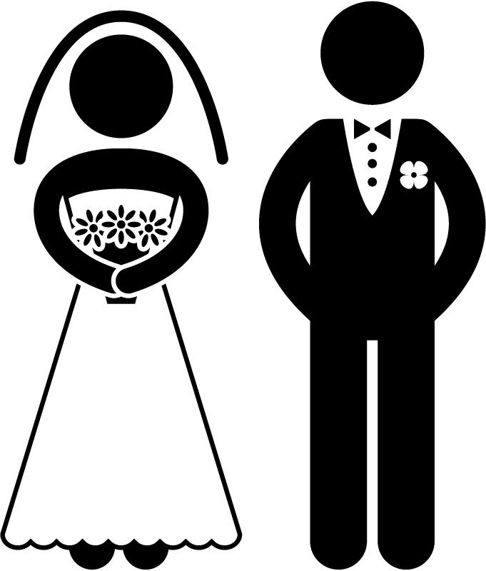 Bride clipart kid Groom Cartoon clipart funny and