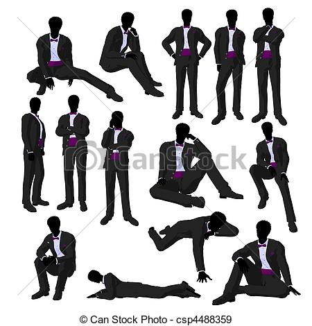 Groom clipart groom tux  African Stock csp4488359 African