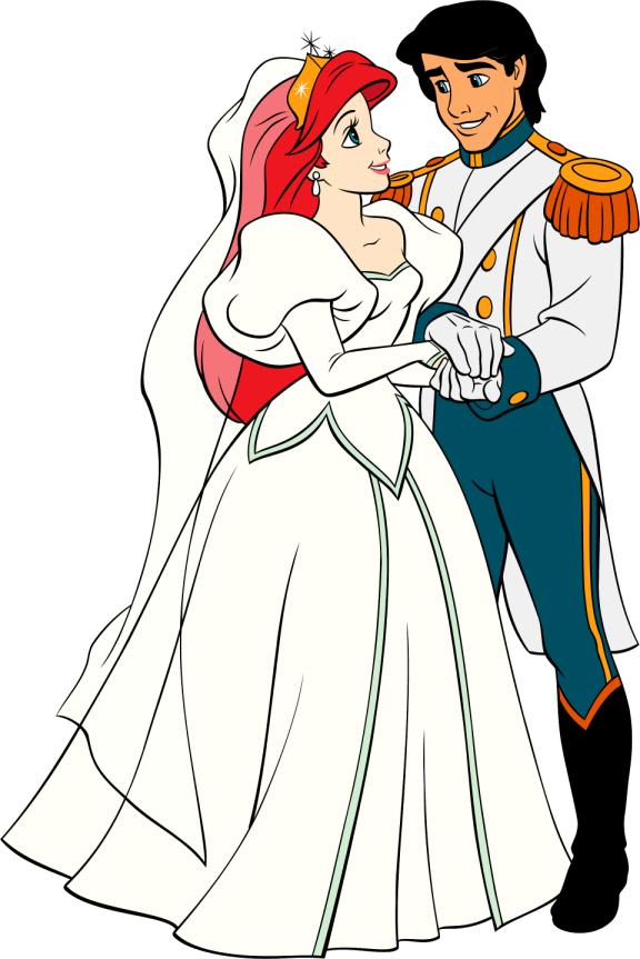 Wedding clipart disney Mermaid Pictures Clip Disney Bride