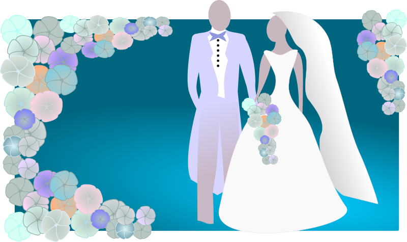 Blue clipart bride and groom Bride Wedding Free Graphics and