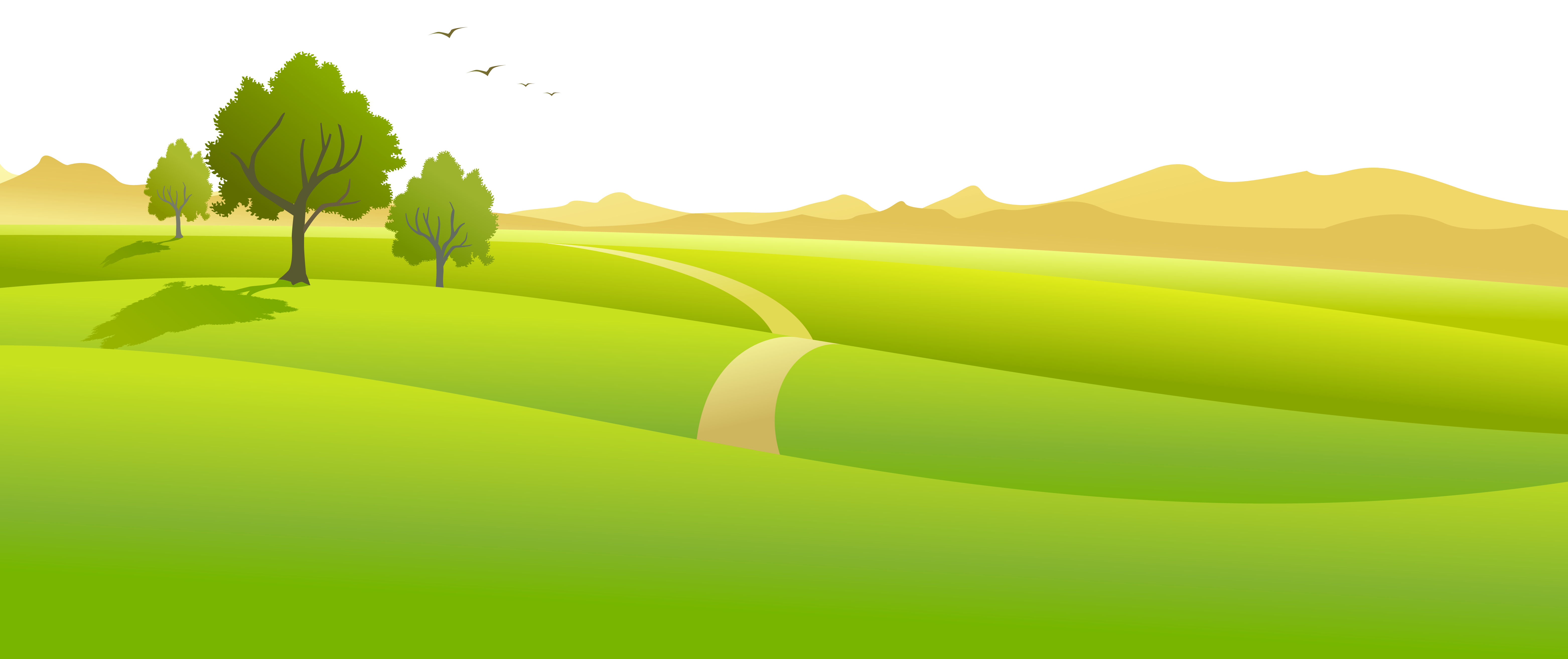 See clipart tree grass #7