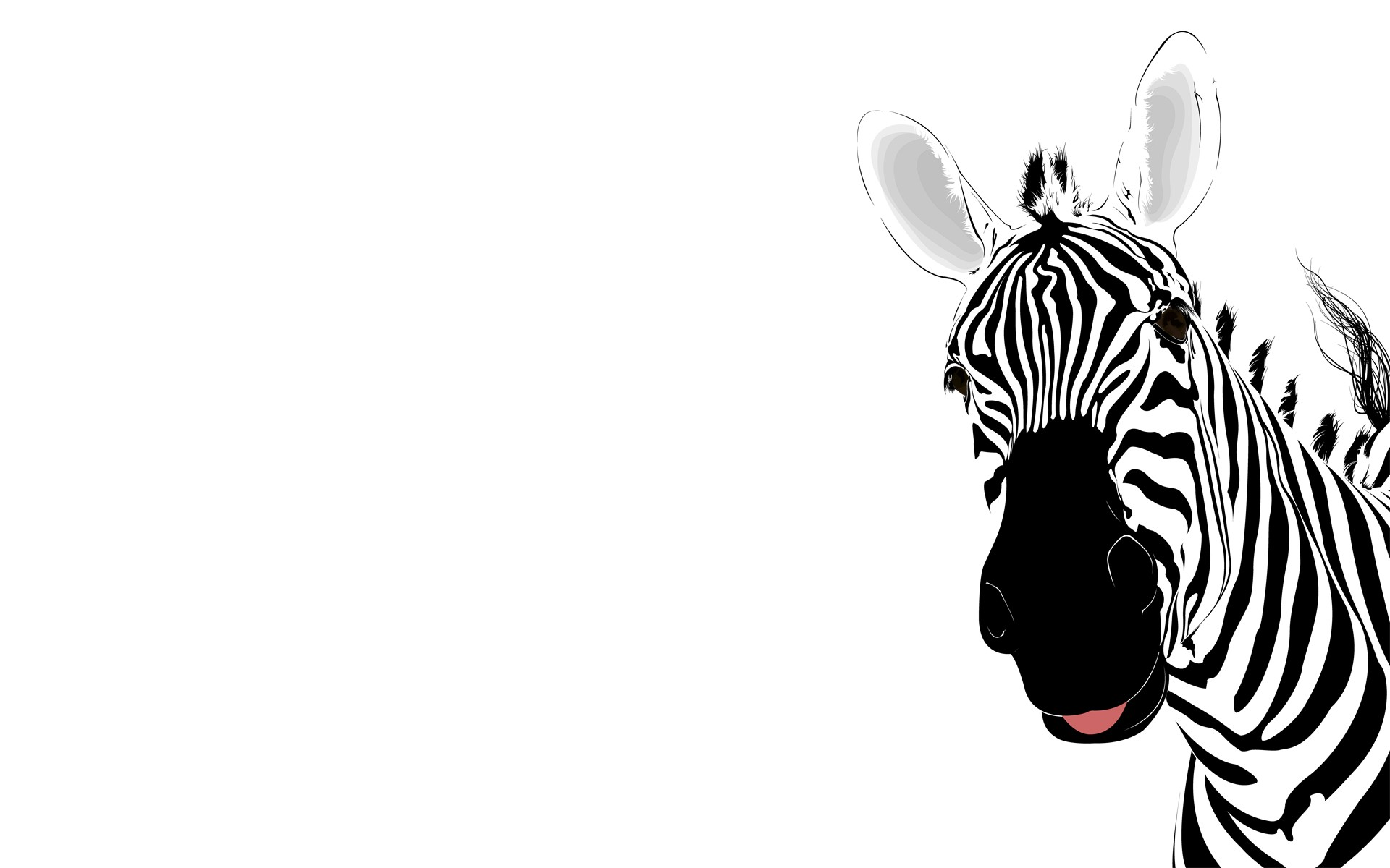 Zebra clipart wallpaper Animal Cute animal Cute 1920x1200