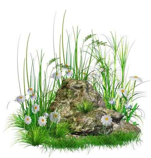 Rock clipart grass patch #8