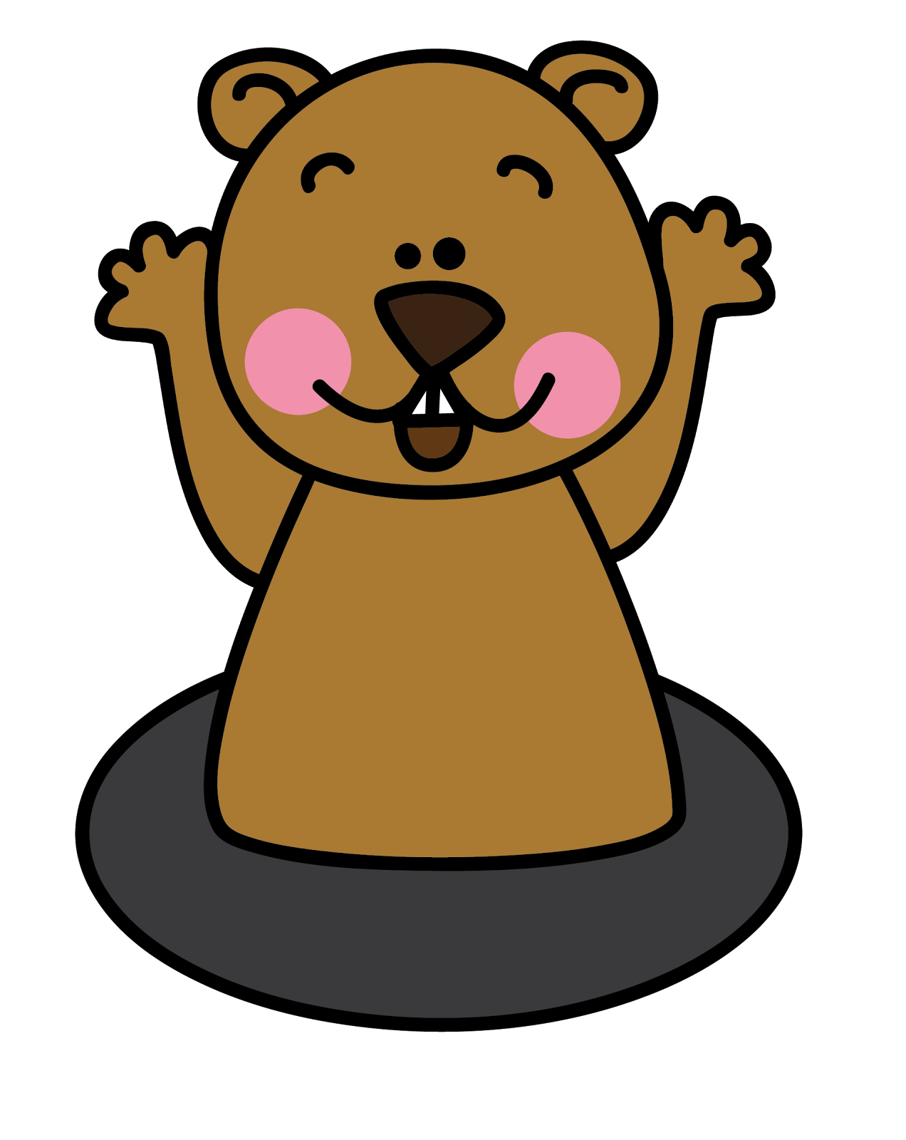 Groundhog clipart Art clip on free art