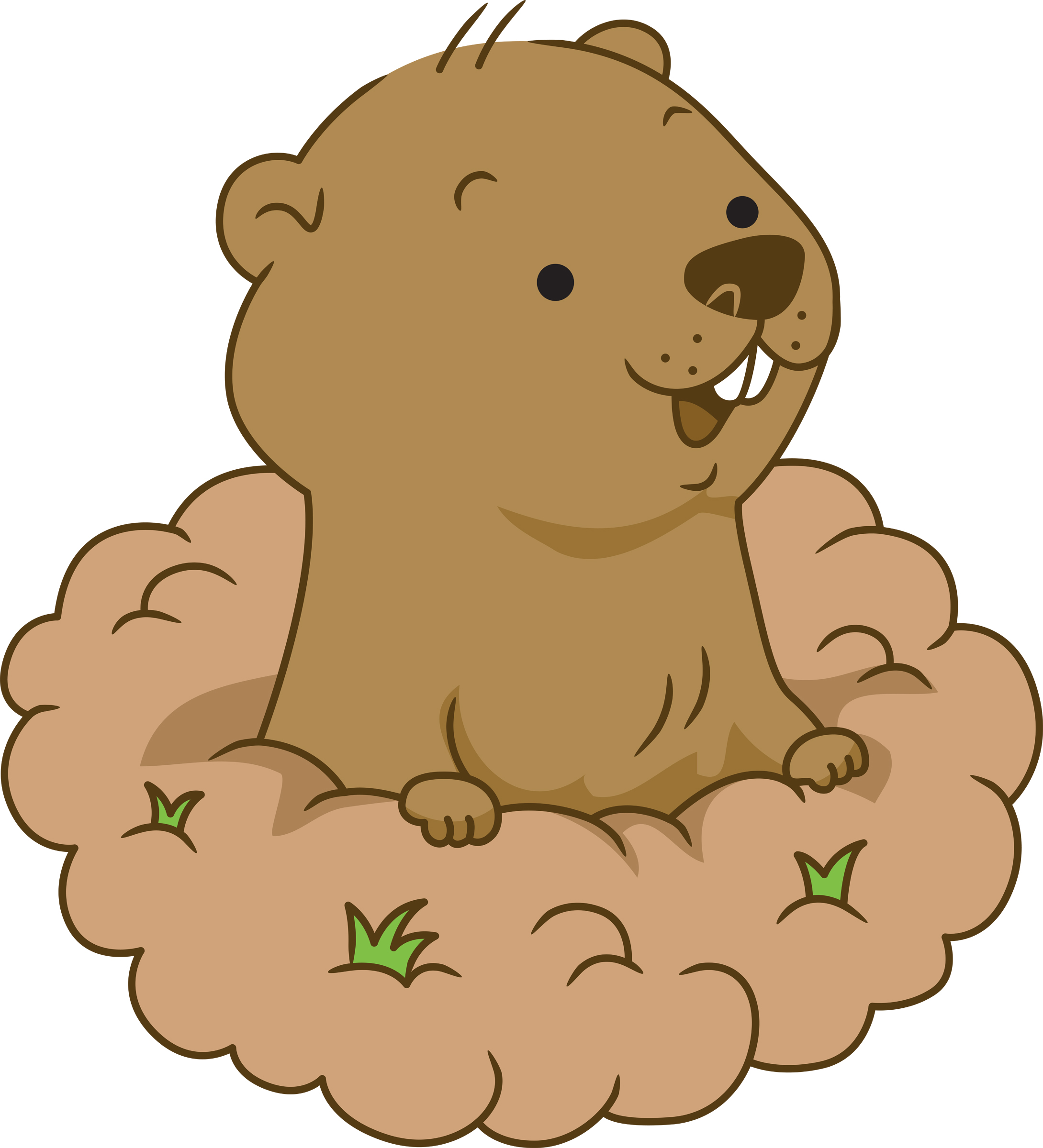 Groundhog clipart Com 5 5 clipart day