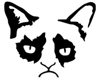 Grumpy Cat clipart Bumper Grumpy Phone Etsy Window