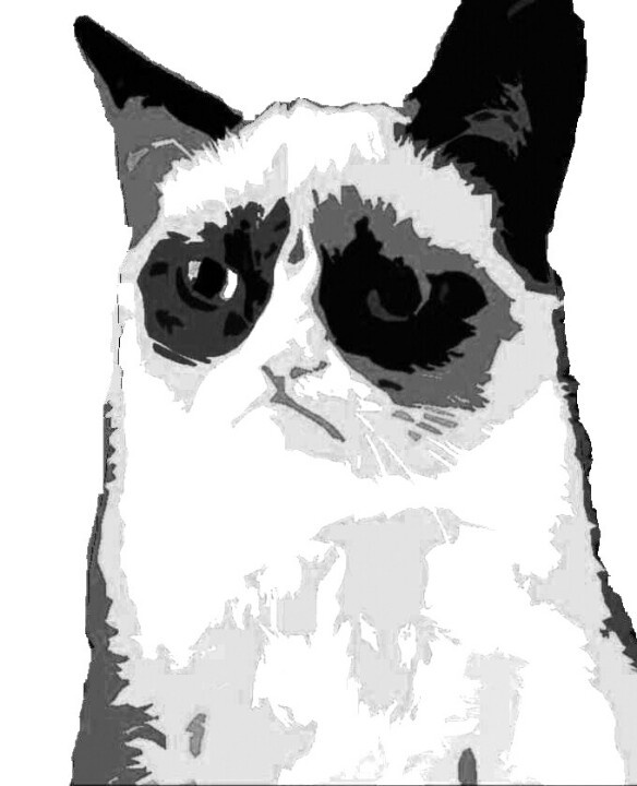 Grumpy Cat clipart Cat #GrumpyCat BW Pinterest Pinterest