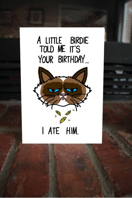 Grumpy Cat clipart birthday saying On 111 Pin and this