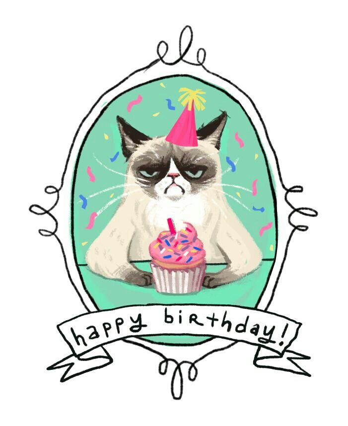 Grumpy Cat clipart birthday saying #5