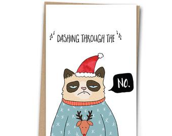 Drawn card grumpy cat #1