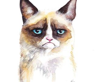 Grumpy Cat clipart easy cat Meme Print Animal Cat Cat