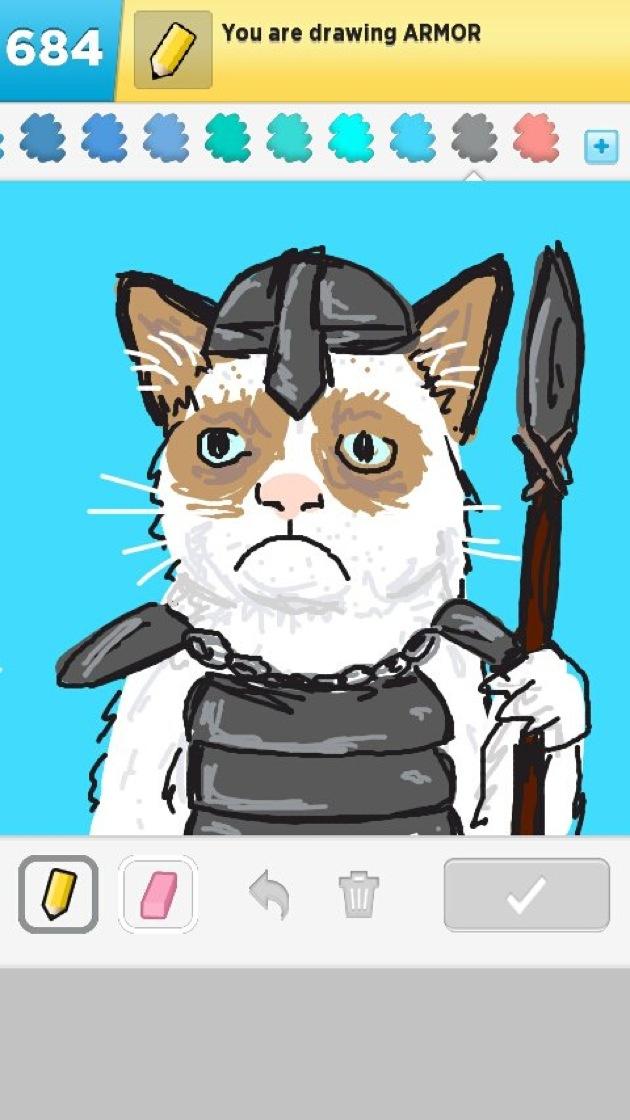 Grumpy Cat clipart easy cat Inspires Art com Wonderfully Grumpy