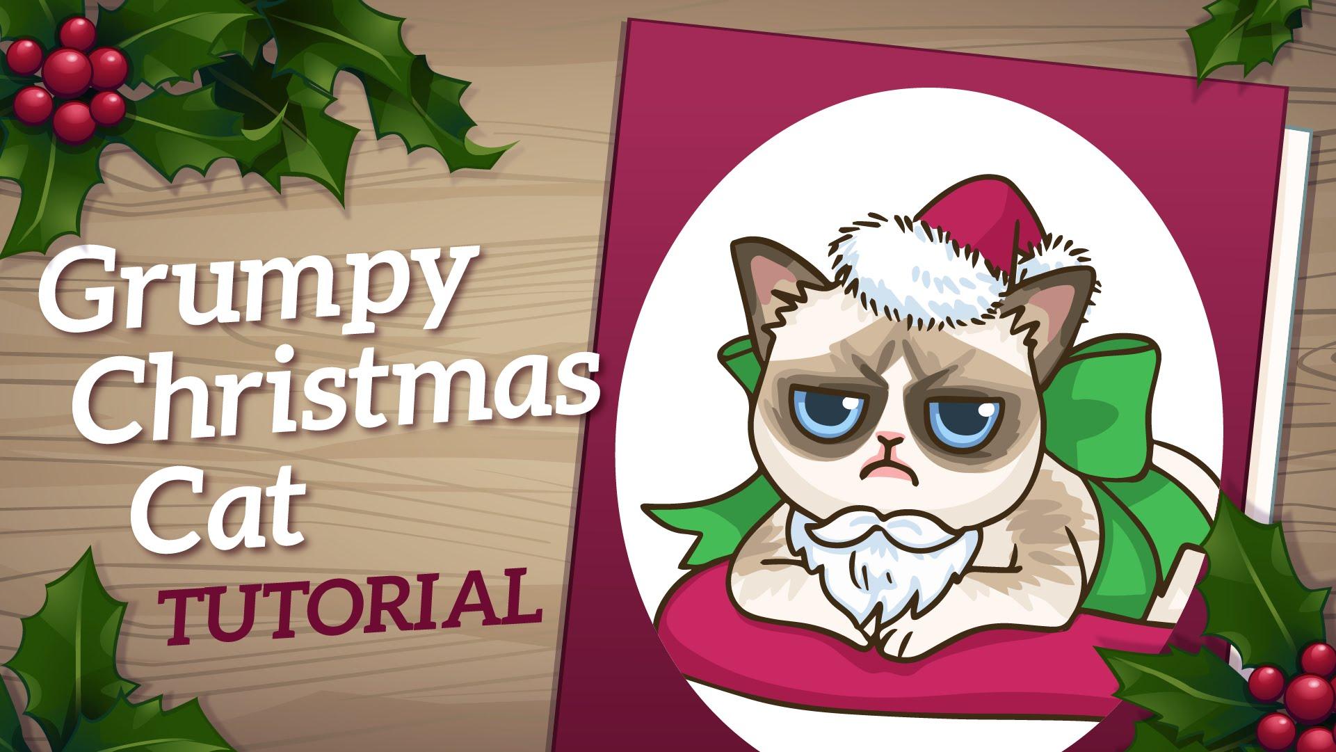 Drawn card grumpy cat #3