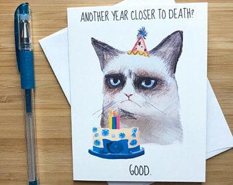 Drawn card grumpy cat #2