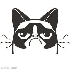 Grumpy Cat clipart impressed #3